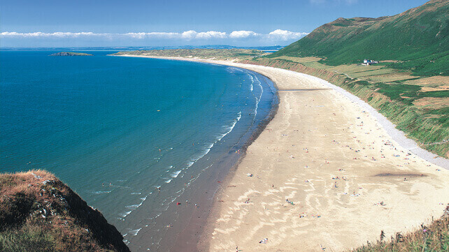 Rhossili Bay, a dog friendly beach in Wales