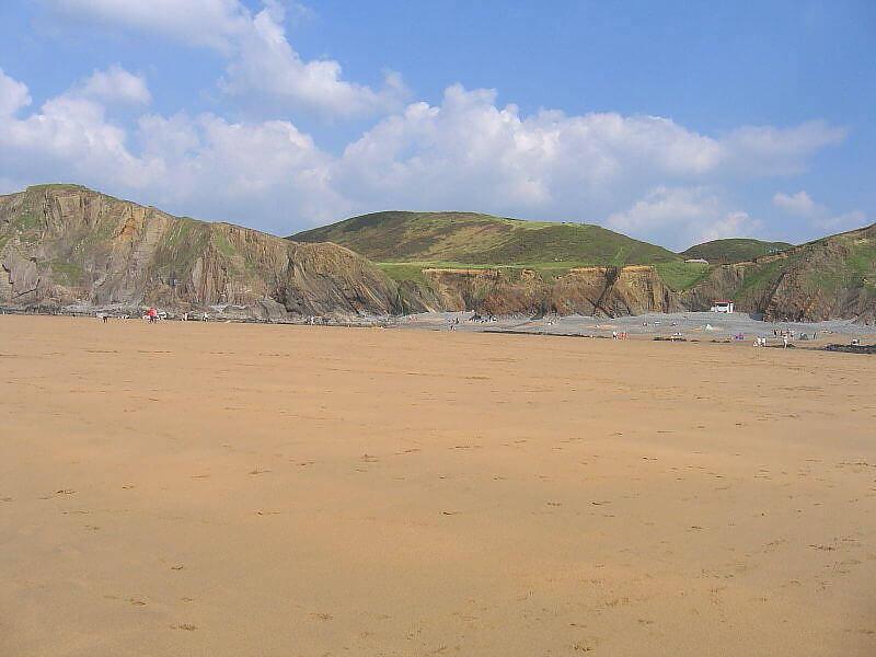Sandymouth Beach, a dog friendly beach in Cornwall
